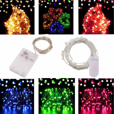 50/100 Battery Operated LED Fairy String Lights Micro Rice Wire Xmas Party Lamp