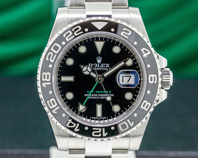 Rolex 116710LN GMT Master II Ceramic SS BOX AND PAPERS