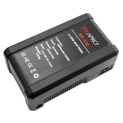 LED V-Lock Battery Lithium-Ion Rechargeable Extra Large Capacity BP130