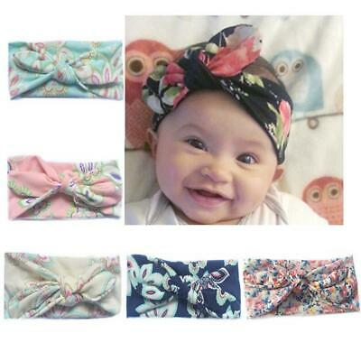 Baby Toddler Girls Kids Bunny Bow Knot Turban Headband Hair Band Headwrap