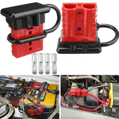 4x 50A Battery Quick Connect Kit Wire Harness Plug Disconnect Winch Trailer Tool