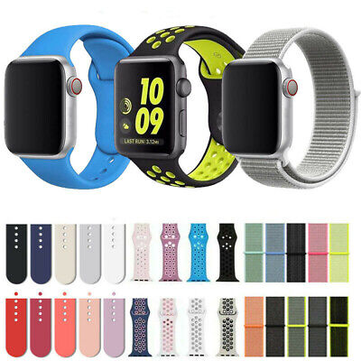 42mm 38mm Sport Silicone Watch Band Strap for A pple Watch iWatch Series 1/2/3/4