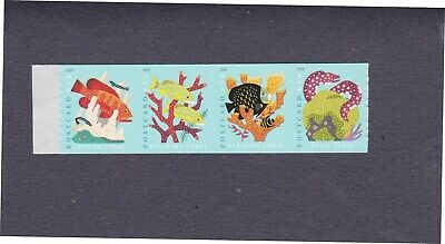 Coil Strip (4) 35c Forever Coral Reefs Postcard Stamps US 5370a MNH