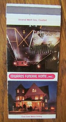 MATCHBOOK COVER - Edwards Funeral Home Cleveland OH 30