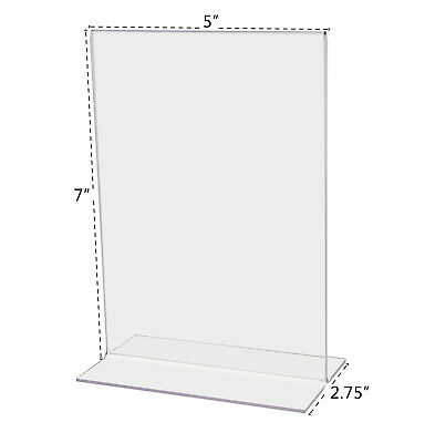 "5""W x 7""H Promo Ad Frame Table Sign Holder Wholesale Acrylic Clear Qty 4"
