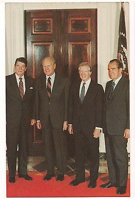 Ronald Reagan, Gerald Ford, Jimmy Carter, Richard Nixon POSTCARD US Presidents