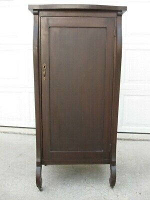 Empire Style Sheet Music Cabinet 1900-1910 Antique Storage
