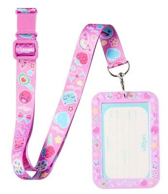 Smiggle Scented Silicone Card Pass Holder With Lanyard, Stylin  Cat Kitten