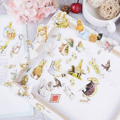 100pcs rabbits cardstock die cuts for scrapbooking happy planner/card making ^S