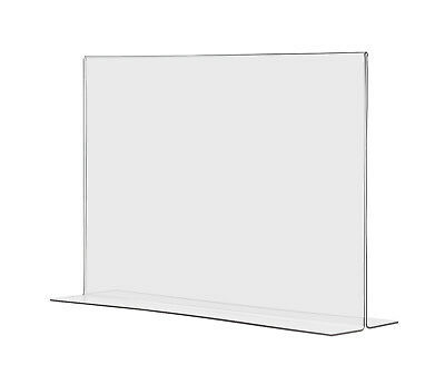 """17""""W x 11""""H Graphic Poster Frame Table Sign Holder Display Stand Slant Qty 12"""