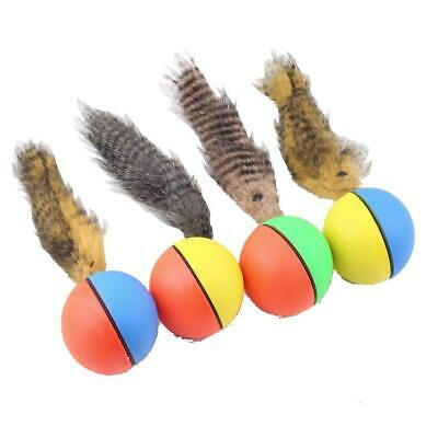 Dog Cat Weasel Motorized Funny Rolling Ball Pet Appears Jump Moving Alive Toy EH