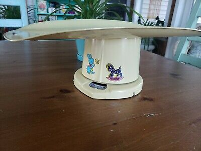 Vintage Nursery Decor Baby Scale Counselor Bunny Horse Antique Infant