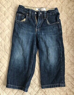 Baby Gap Loose Fit Toddler Jeans  Boys Size 2T. Adjustable Waist.
