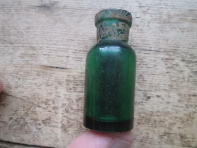 """Small Old Green Bottle Approx 2"""" High"""