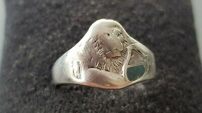 Beautiful vintage/old solid silver unresearched ring 3.61g with hallmark.  L147e