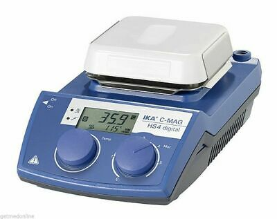 NEW ! IKA C-MAG IKAMAG HS4 Digital Hotplate Stirrer, 1500rpm - 500°C, 4240201