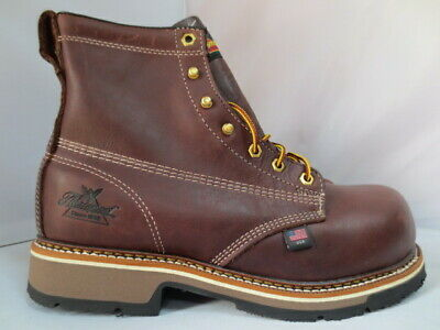 2b6b38ad42c MEN'S THOROGOOD BROWN Composite Toe Work Boot Size 9 Made in USA 804-4367
