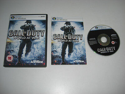 CALL OF DUTY WORLD AT WAR Pc DVD Rom  COD5 COD 5 - FAST DISPATCH