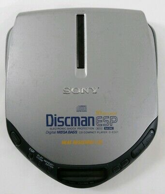 Vintage SONY ESP Portable CD Player Walkman Shock Protection Heat Resistant Lid