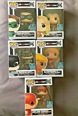 funko pop 2019 SDCC Big Bang Theory full set limited edition New DC Costumes