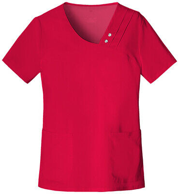 1046//378 NWT Nurses ScrubTop 55/%//45/%cottonpoly stretchable side panel XS-XL