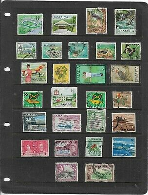 Commonwealth JAMAICA One Stock Sheet Mixed Used Stamps Collection