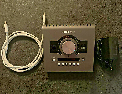 Universal Audio Apollo Twin MKII DUO Audio Interface Black w/ THUNDERBOLT CABLE