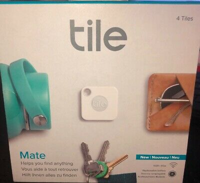 Tile Mate RT-13004 4 Tiles Trackers New In Box