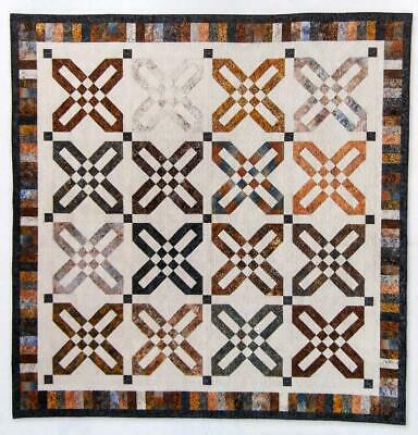 Ribbon Stars Quilt Pattern Large Blocks 2 Sizes From