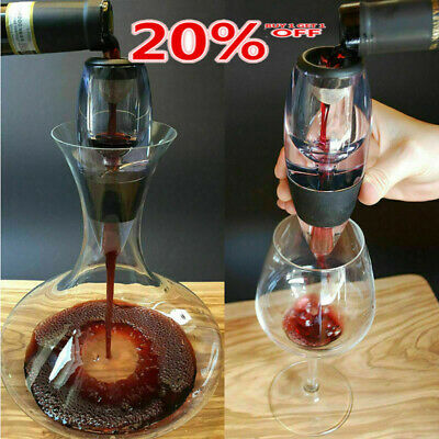 Quick Aerating Aerator Pouch Red Magic Grape Wine Decanter Filter Essential UK Q