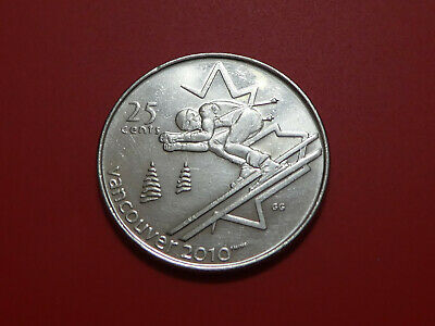 """2007 Canada 25 Cent Coin """" Alpine Skiing"""" 2010 Vancouver Olympics"""