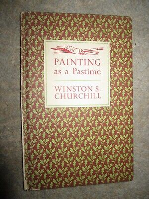 Vtg HC book, Painting as a Pastime by Winston S. Churchill, 1965