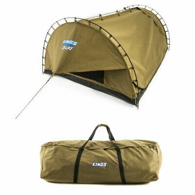 Adventure Kings 'Big Daddy' Deluxe Double Swag + Swag & Pole Canvas Bag
