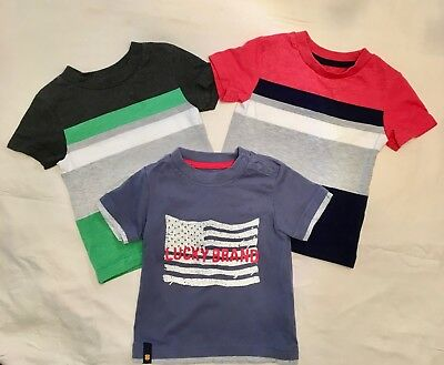 Spring Summer Lot of 3 Baby boy's T-shirts  Lucky Brand Circo size 12 months