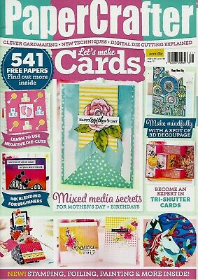 Papercrafter  Let's Make Cards Magazine Issue 131.2019 Free Tri-Shutter Card Kit