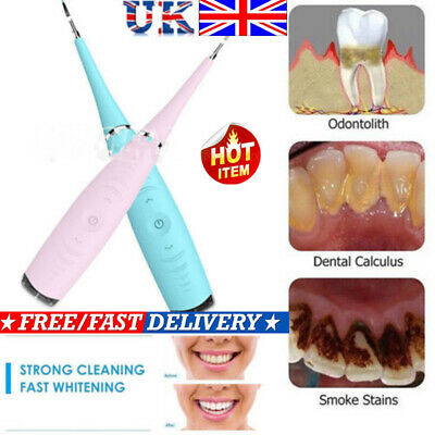 Electric Sonic Dental Calculus Remover Scaler Tooth Stains Tartar Cleaning Tool!