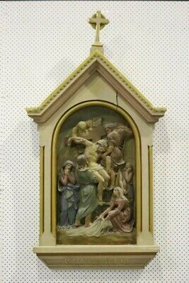 Antique 19thC French Station of the Cross - ORIGINAL