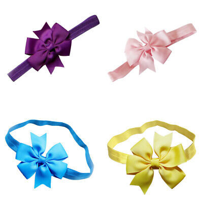 Baby Girl Hairband Bow Soft Head Elastic-Band Headband Flower Hair Acces JPL