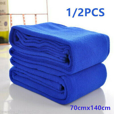 2X Extra Large Quick Drying Microfibre Bath/Hand Towel Travel Swimming Gym Sport