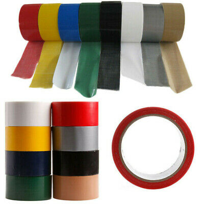10M Duck Duct Gaffa Gaffer Waterproof Adhesive Repair Cloth Tape 8 Colour