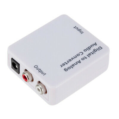 Optical Coaxial Toslink Digital to Analog  L/R Audio Converter Adapter RCA 3.5mm