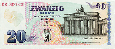 20 Mark 1989 Staatsbank der DDR Sonderdruck