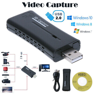 HD 720P USB 2.0 Port HDMI Monitor Game Video Capture Card Tool For Win7/8/10 AU