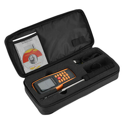 GM8903 Handheld Backlit Hot Wire Wind Speed Tester Anemometer Thermometer