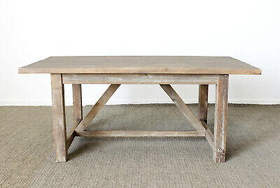Speakeasy Large Dining Table RRP £575, Distressed Farmhouse Rustic Kitchen