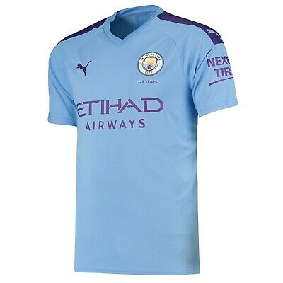 Mens 2XLarge Manchester City Home Shirt 2019-20 FREE Champs 18/19 Badge MC3
