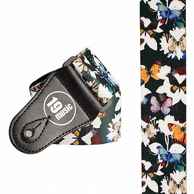 Butterflies Guitar Strap #3 adjustable unique design leather strap ends stunning