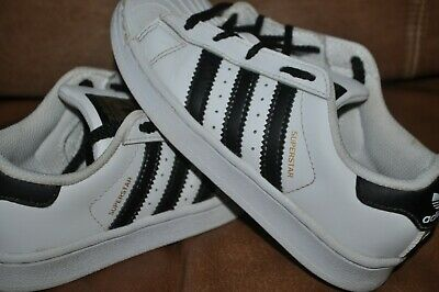 Details about ADIDAS ORIGINAL SUPERSTAR Sneakers black and white youth size 1 12 EUC