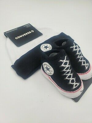 CONVERSE ALL STAR Baby Infant Girl PinkWhite Hat & Booties