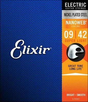 Elixir 12002 Nanoweb Coated Electric Guitar Strings Super Light 9-42